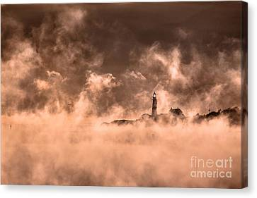 Portland Head Light Sea Smoke Canvas Print by Benjamin Williamson