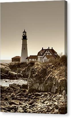Portland Head Lighthouse Canvas Print by Joann Vitali