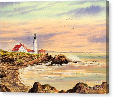 Portland Head Lighthouse Maine Canvas Print by Bill Holkham