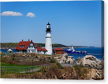 Portland Head Lighthouse Canvas Print by Georgia Fowler