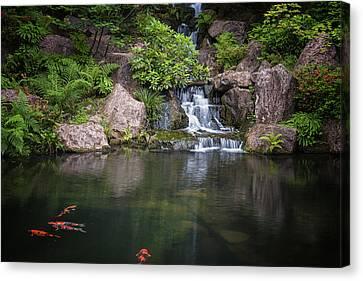Portland Japanese Gardens Canvas Print by Thomas Hall Photography