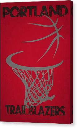 Portland Trail Blazers Hoop Canvas Print by Joe Hamilton