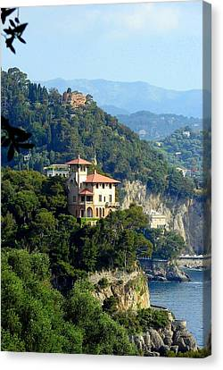 Portofino Coastline Canvas Print by Carla Parris