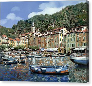 Portofino Canvas Print by Guido Borelli