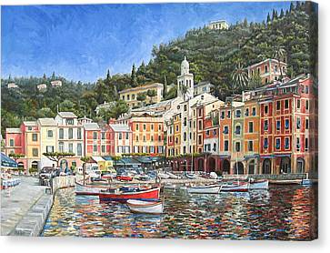 Portofino Italy Canvas Print by Mike Rabe
