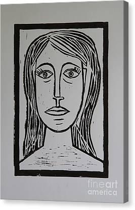 Portrait A La Picasso Canvas Print by Christiane Schulze Art And Photography