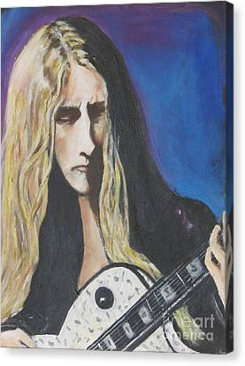 Jerry Cantrell Of Alice In Chains Canvas Print by Chaline Ouellet