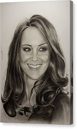 Portrait Kate Middleton Canvas Print by Natalya Aliyeva