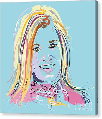 Portrait Maxima Canvas Print by Go Van Kampen