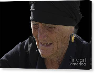 Portrait Of A Fishermans Wife Canvas Print by Heiko Koehrer-Wagner