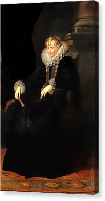 Portrait Of A Genovese Lady Canvas Print by Mountain Dreams