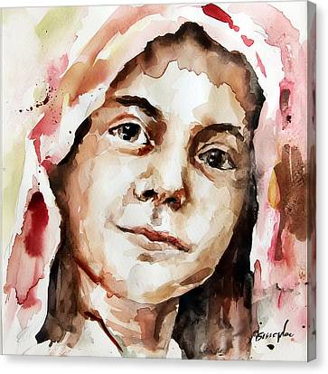 Portrait Of A Girl Canvas Print by Michael Tsinoglou