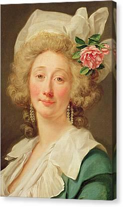 Portrait Of A Lady Canvas Print by Jean Francois Colson