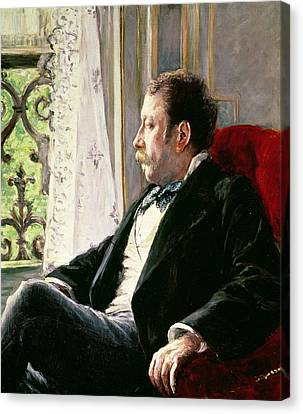 Portrait Of A Man Canvas Print by Gustave Caillebotte
