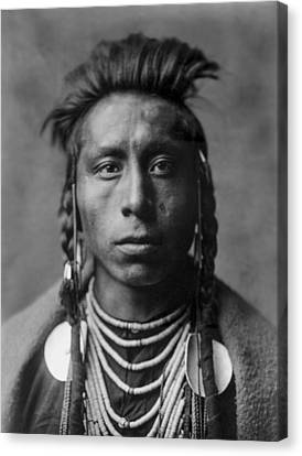 Portrait Of A Native American Man Canvas Print by Aged Pixel