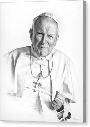 Portrait Of A Saint Canvas Print by Smith Catholic Art
