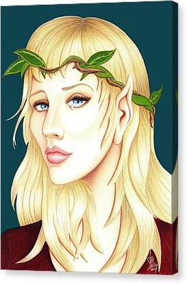 Portrait Of A She Elf Canvas Print by Danielle R T Haney