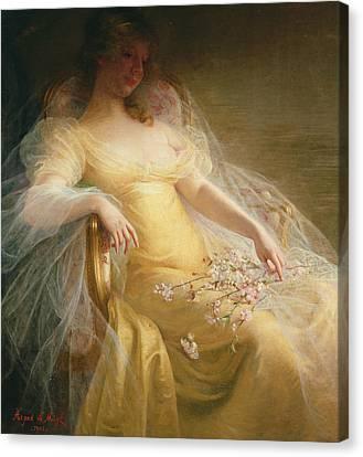 Portrait Of A Woman Canvas Print by Arpad Migl