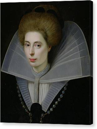 Portrait Of A Woman  Canvas Print by Dutch School