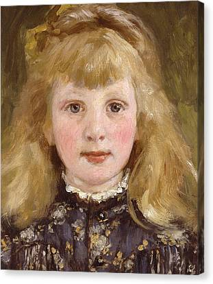 Portrait Of A Young Girl Canvas Print by James Charles