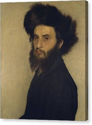 Portrait Of A Young Jewish Man  Canvas Print by Isidor Kaufmann
