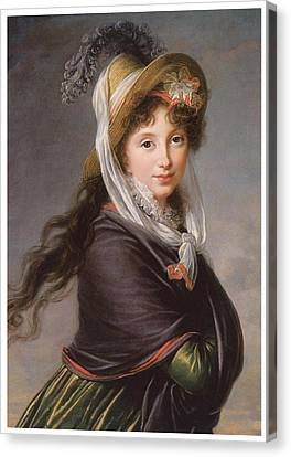 Portrait Of A Young Woman Canvas Print by Marie Louise Elisabeth Vigee-Le Brun