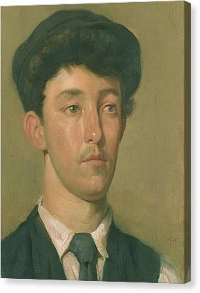 Portrait Of A Youth Canvas Print by Sir William Orpen