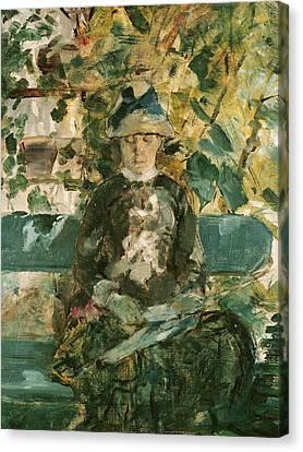 Portrait Of Adele Tapie De Celeyran Canvas Print by Henri de Toulouse-Lautrec