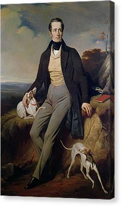 Portrait Of Alphonse De Lamartine 1790-1869 1830 Oil On Canvas Canvas Print by Henri Decaisne