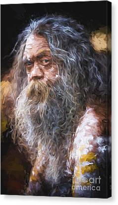 Portrait Of An Aboriginal Canvas Print by Avalon Fine Art Photography