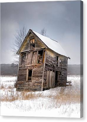 Portrait Of An Old Shack - Agriculural Buildings And Barns Canvas Print by Gary Heller