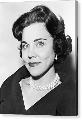 Portrait Of Ann Landers Canvas Print by Fred Palumbo