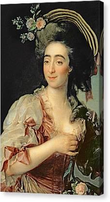 Portrait Of Anna Davia Bernucci Canvas Print by Dmitri Grigorevich Levitsky