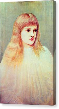 Portrait Of Cecily Horner, 1895 Canvas Print by Sir Edward Coley Burne-Jones