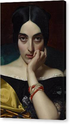 Portrait Of Clementine Canvas Print by Henri Lehmann