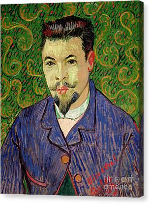Portrait Of Dr Felix Rey Canvas Print by Vincent van Gogh