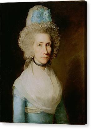 Portrait Of Elizabeth Caldwell Canvas Print by Gilbert Stuart