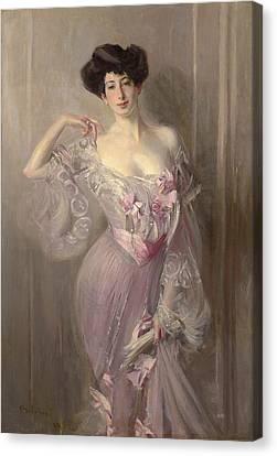 Portrait Of Ena Wertheimer Canvas Print by Giovanni Boldini
