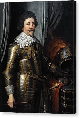 Portrait Of Frederick Henry, Prince Of Orange 1584-1647, C.1632, By Michiel Jansz Van Mierevelt Canvas Print by Bridgeman Images