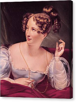 Portrait Of Harriet Smithson 1800-54 Oil On Canvas Canvas Print by French School