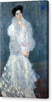 Portrait Of Hermine Gallia Canvas Print by Gustive Klimt