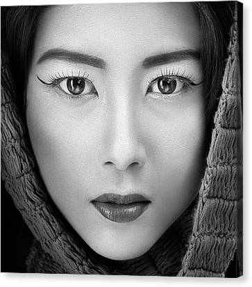 Portrait Of Icha Canvas Print by Arief Siswandhono