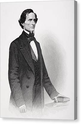 Portrait Of Jefferson Davis Canvas Print by Mathew Bardy