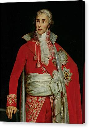 Portrait Of Joseph Fouche Duke Of Otranto Canvas Print by Edouard Louis Dubufe