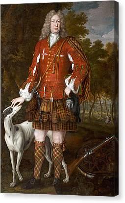 Portrait Of Kenneth Sutherland, 3rd Lord Duffus D.1732 Canvas Print by Richard Waitt