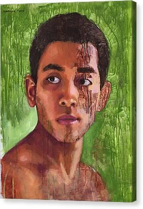 Portrait Of Khanh Canvas Print by Douglas Simonson