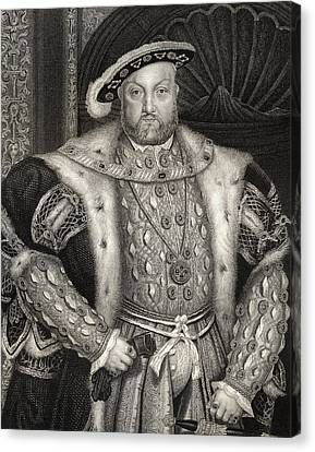 Portrait Of King Henry Viii  Canvas Print by Hans Holbein the Younger