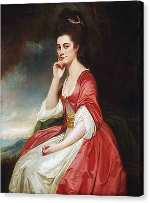 Portrait Of Lady Grantham Canvas Print by George Romney