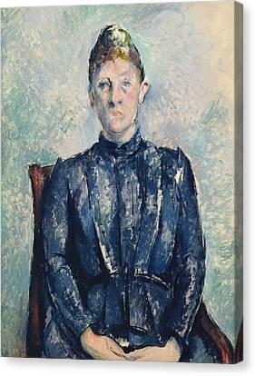 Portrait Of Madame Cezanne Canvas Print by Paul Cezanne