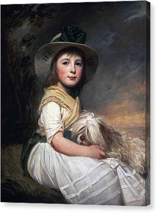 Portrait Of Marianne Holbech Canvas Print by George Romney